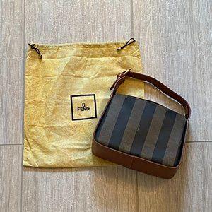 Vintage Fendi Pequin Print Bag